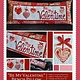 KIMBERBELL DESIGNS Be My Valentine Bench Pillow Pattern