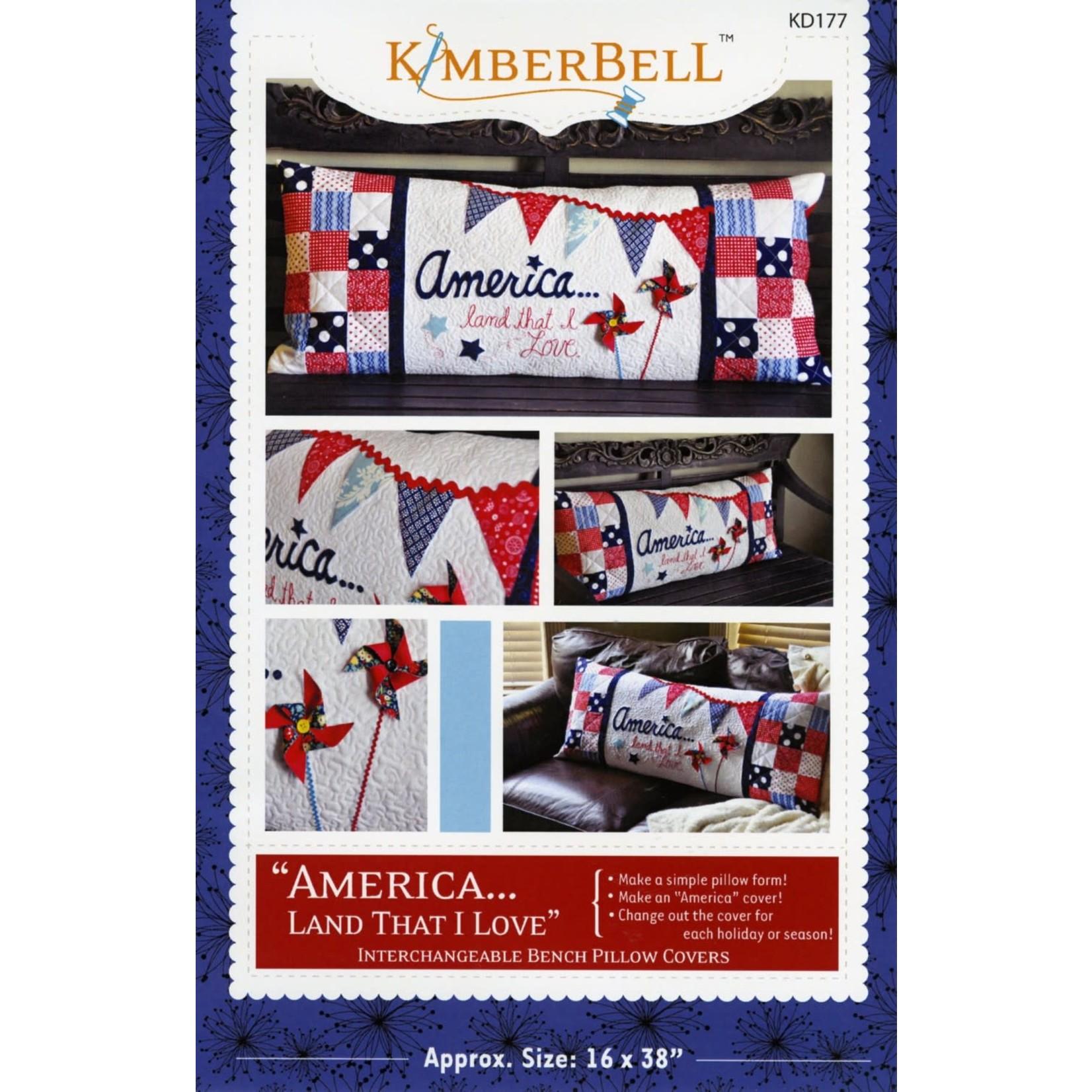KIMBERBELL DESIGNS America Land That I Love Bench Pillow Pattern