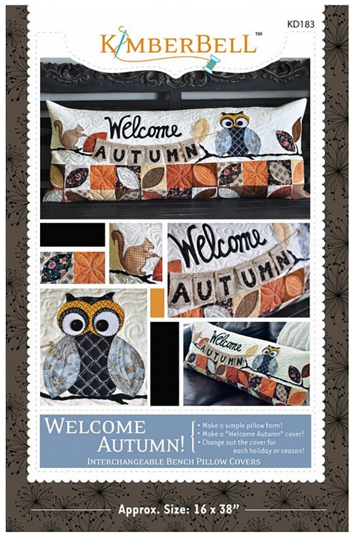KIMBERBELL DESIGNS Welcome Autumn Bench Pillow Pattern