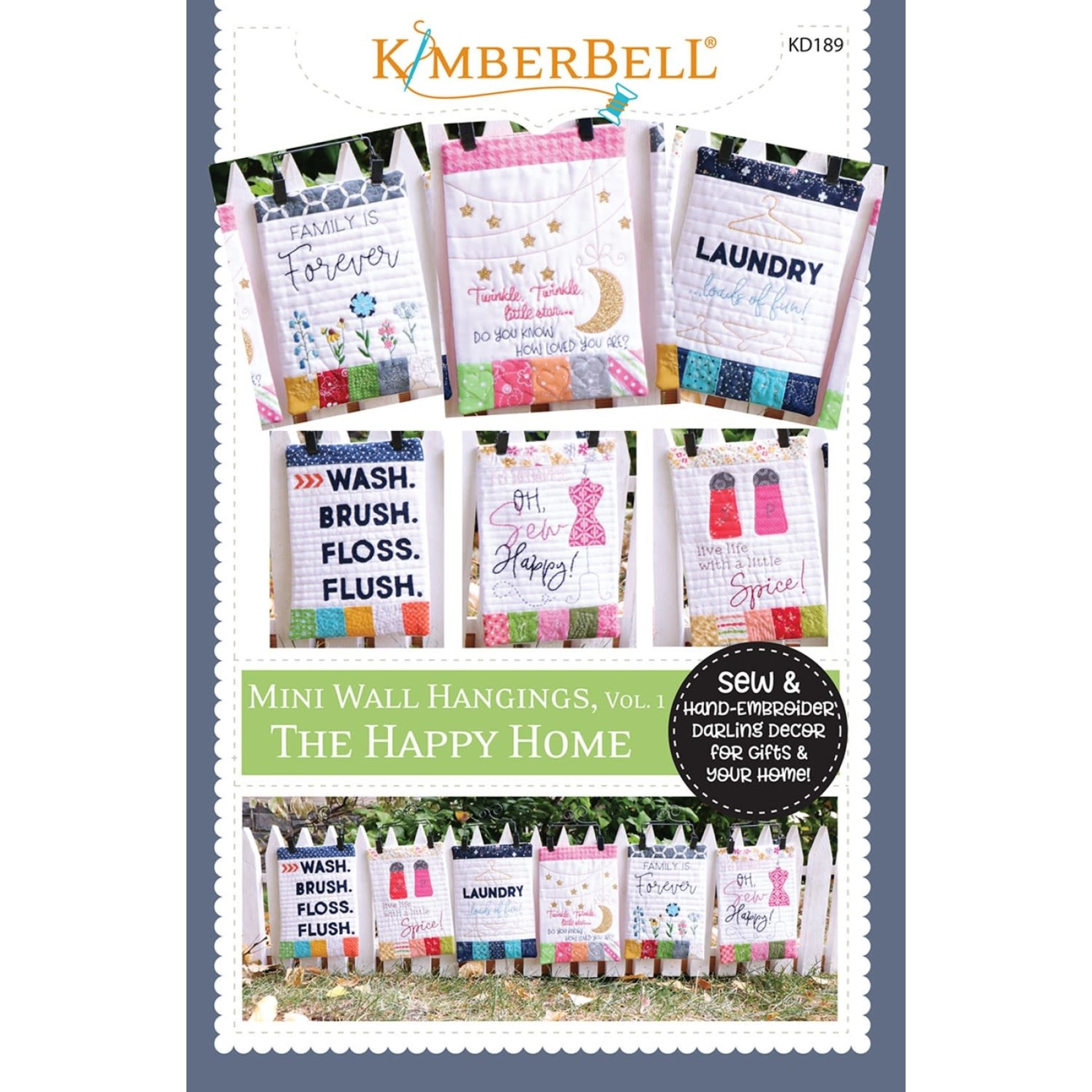 KIMBERBELL DESIGNS Mini Wall Hangings, Happy Home