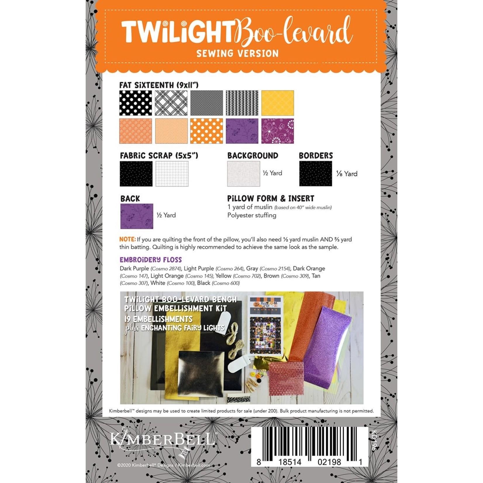 KIMBERBELL DESIGNS Twilight Boo-levard Bench Pillow Sewing Version