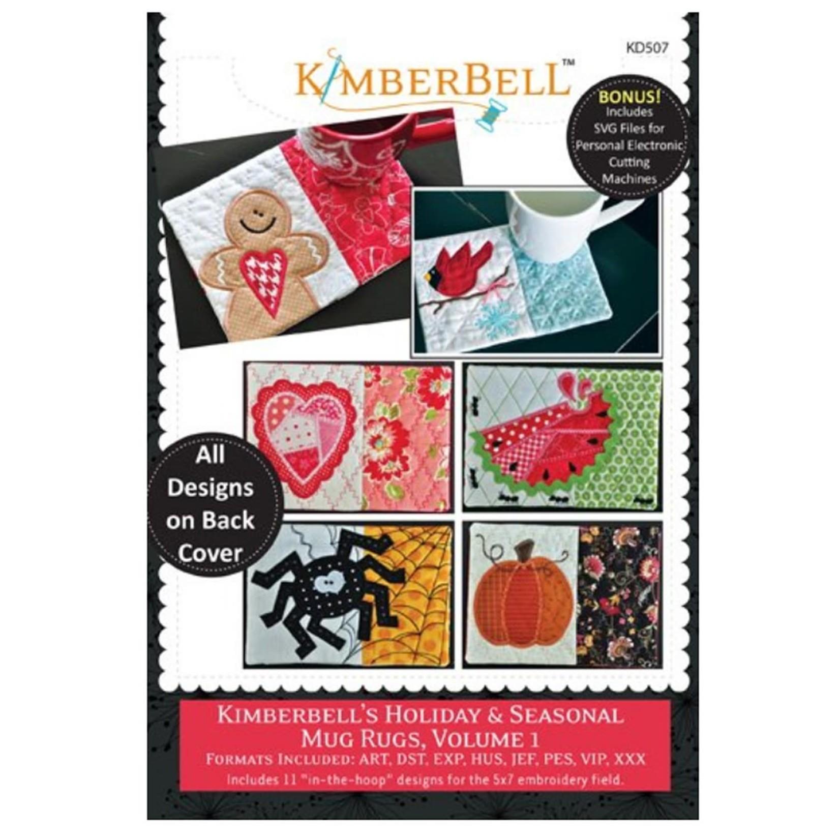 KIMBERBELL DESIGNS Kimberbell's Holiday & Seasonal Mug Rugs, Volume 1