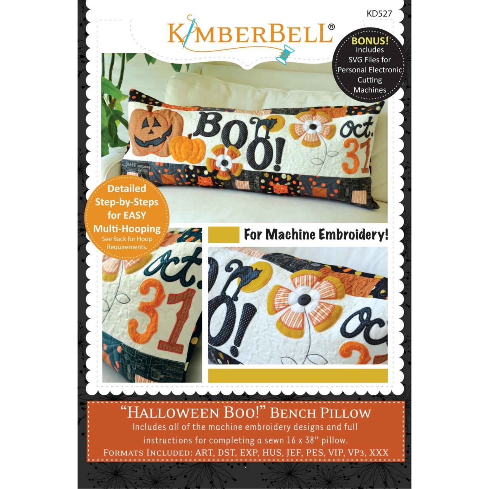 Kimberbell Designs Halloween Boo! Bench Pillow Machine Embroidery CD