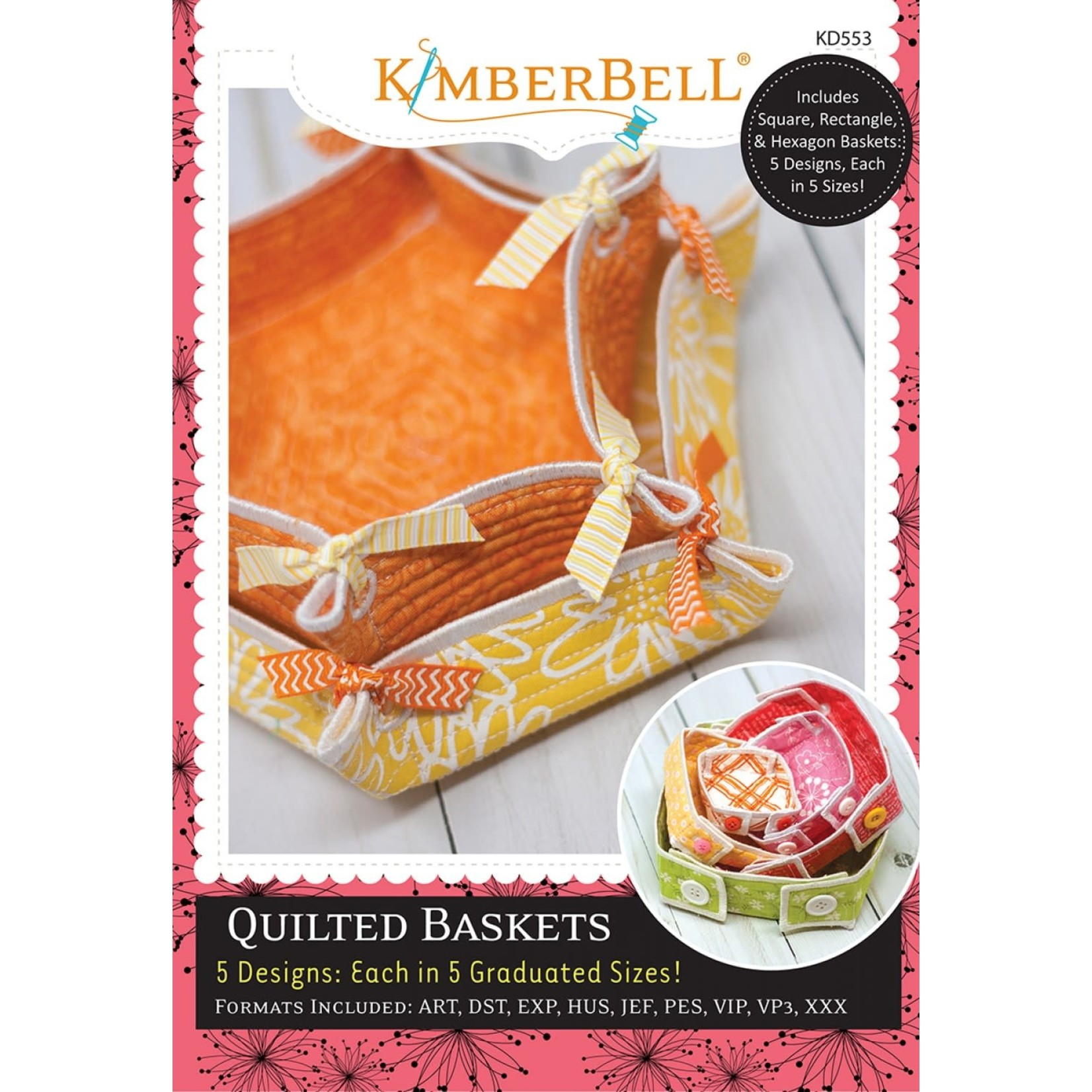KIMBERBELL DESIGNS Quilted Baskets Machine Embroidery CD