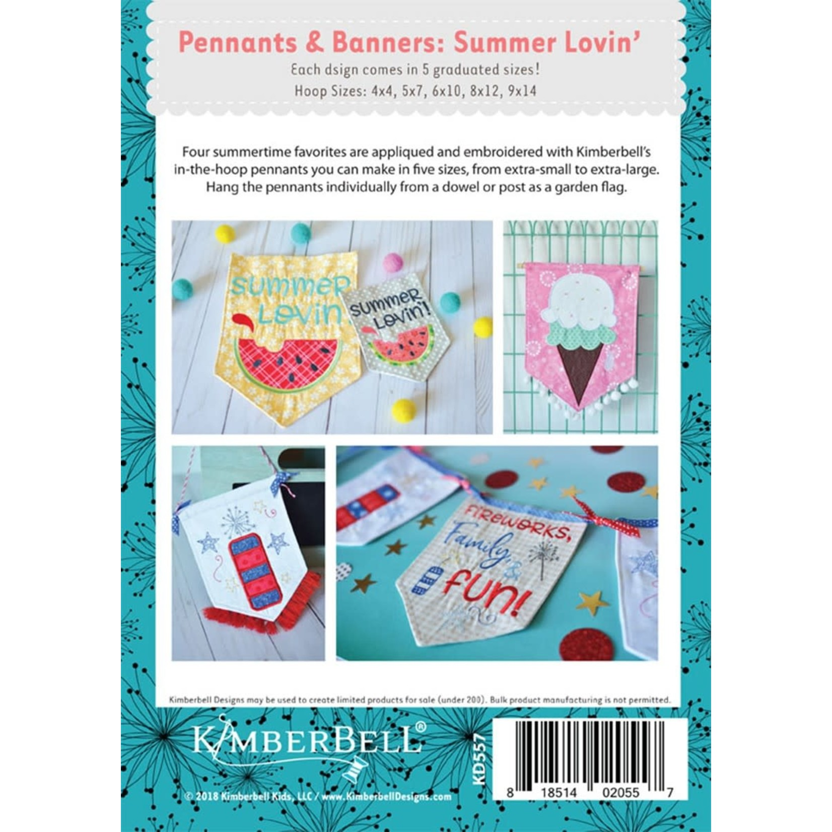 KIMBERBELL DESIGNS Pennants & Banners: Summer Lovin' Machine Embroidery CD