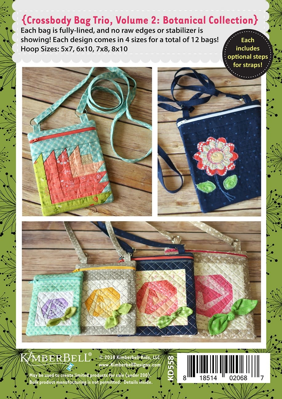KIMBERBELL DESIGNS Crossbody Bag Trio, Volume 2: Botanical Collection