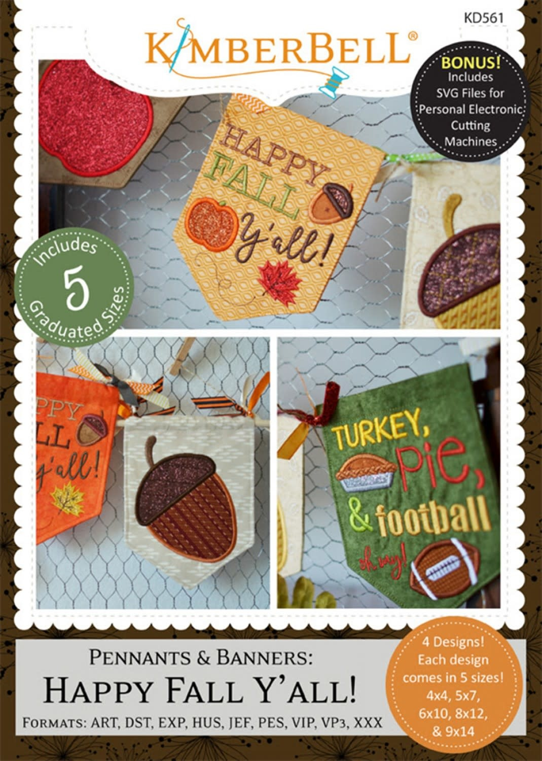 KIMBERBELL DESIGNS Pennants and Banners: Happy Fall Y'All