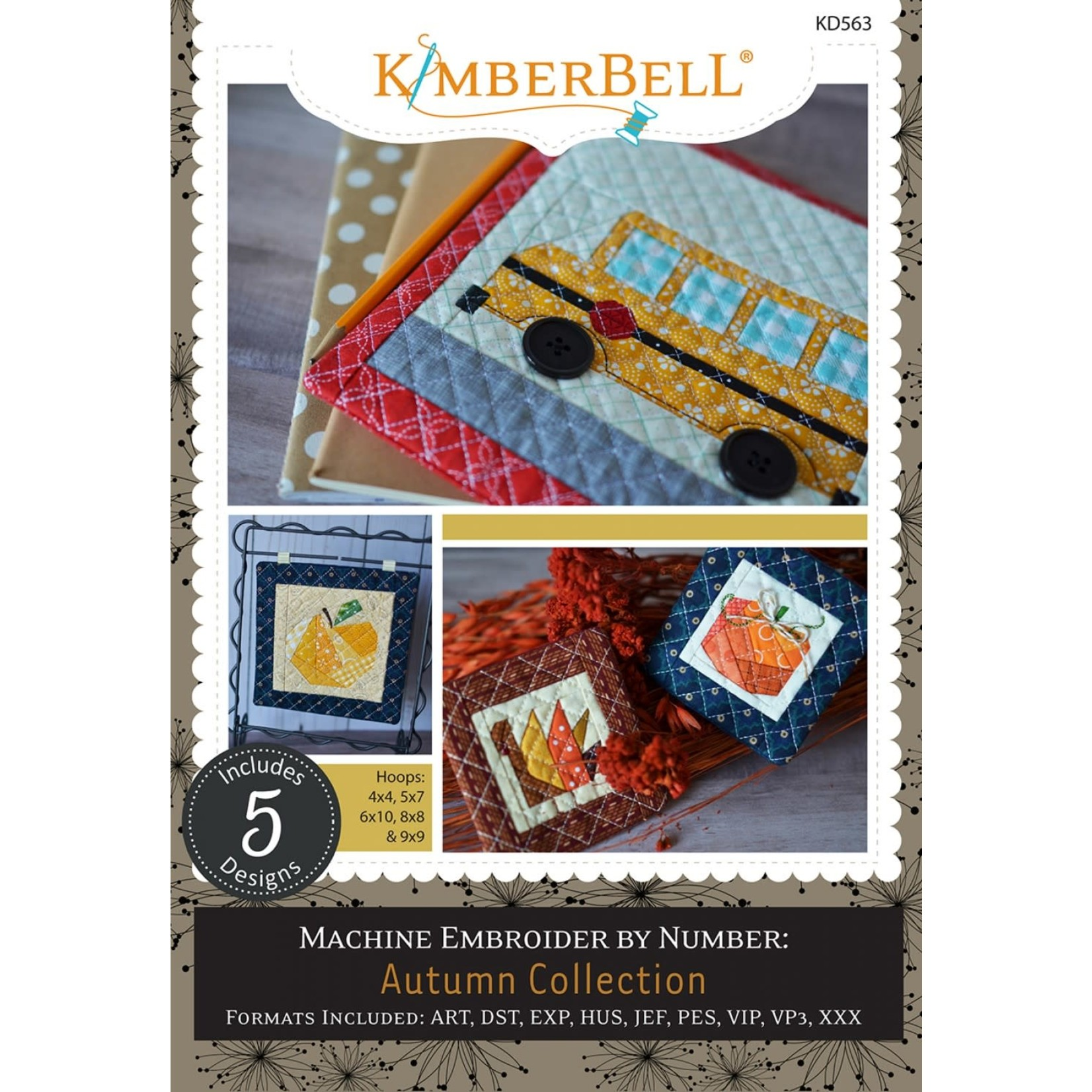 KIMBERBELL DESIGNS Machine Embroider by Number: Autumn Collection