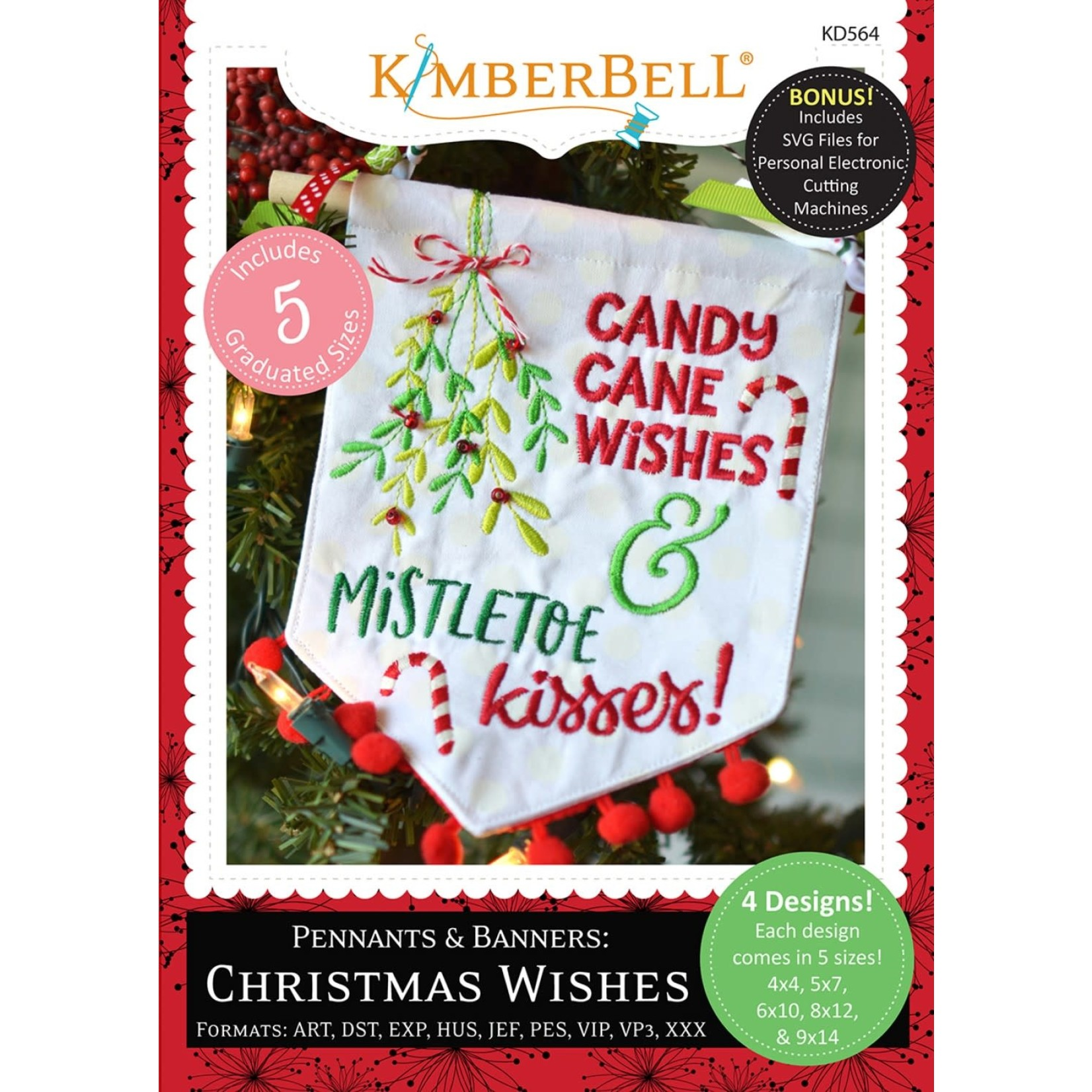 KIMBERBELL DESIGNS Pennants & Banners: Christmas Wishes