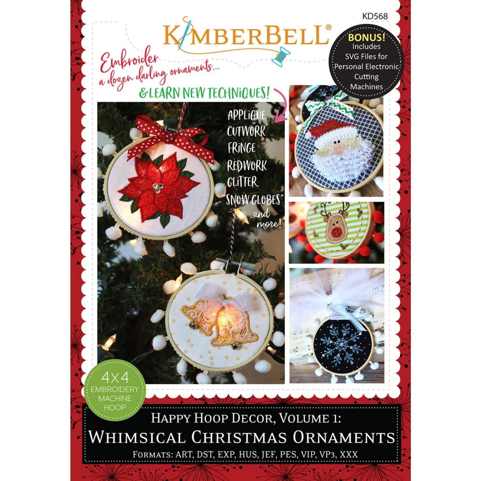 KIMBERBELL DESIGNS Happy Hoop Decor, Volume 1: Whimsical Christmas Ornaments