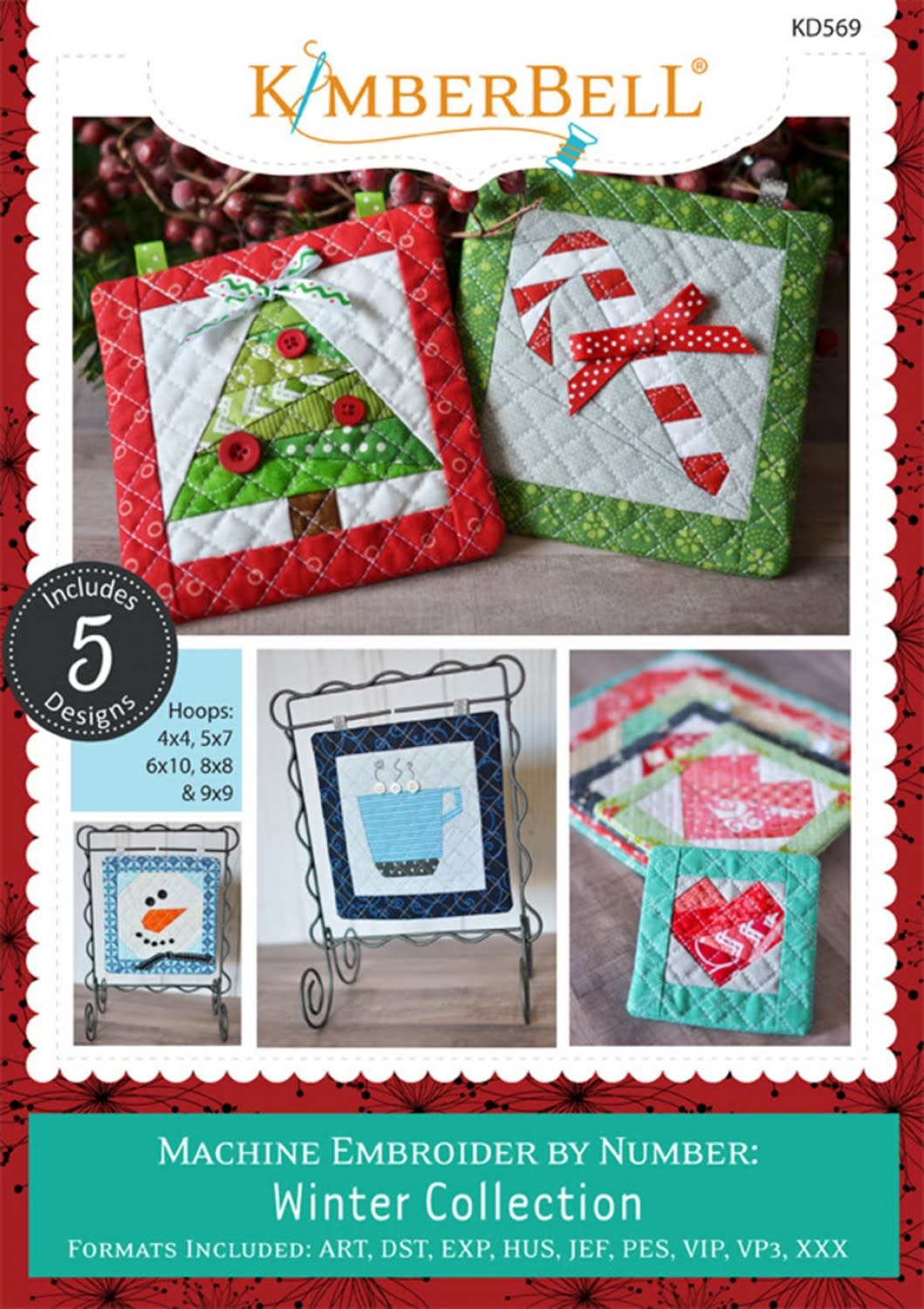 KIMBERBELL DESIGNS Machine Embroider By Number: Winter Collection