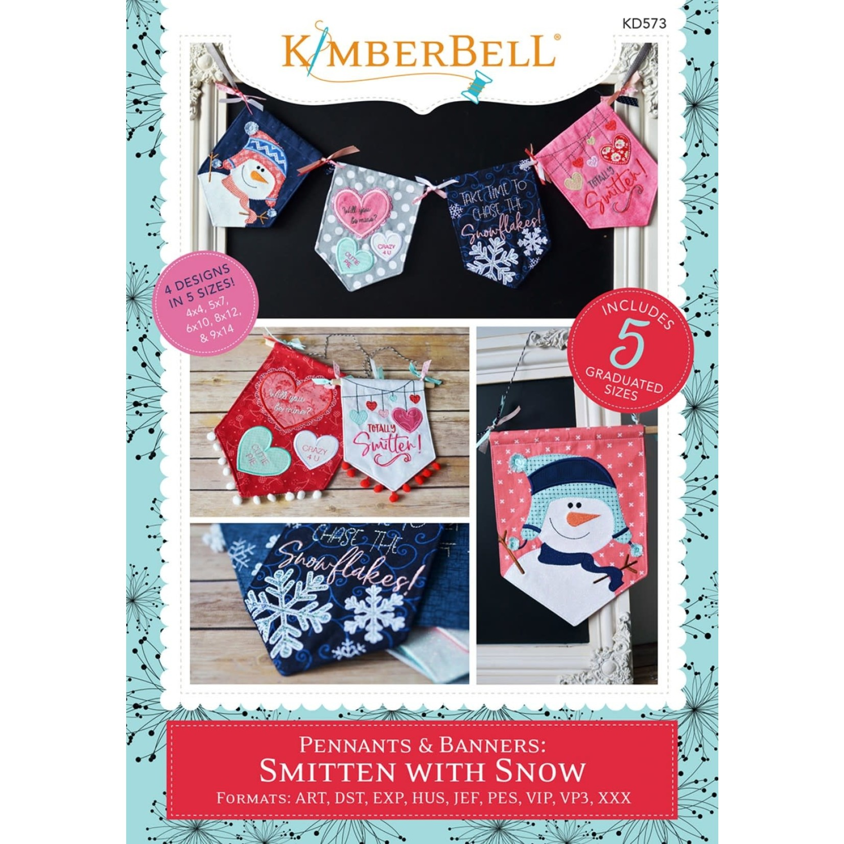 Kimberbell Designs Pennants & Banners:  Smitten with Snow