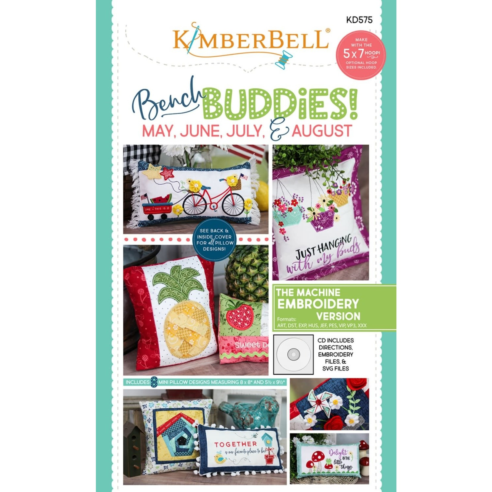 Kimberbell Designs Bench Buddies:  May, June, July, August (Machine Embroidery Version)