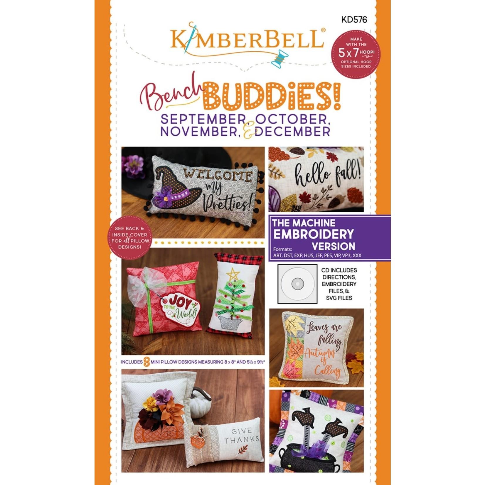 Kimberbell Designs Bench Buddies:  September, October, November, December (Machine Embroidery Version)