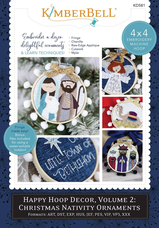 KIMBERBELL DESIGNS Happy Hoop Decor, Volume 2: Christmas Nativity Ornaments