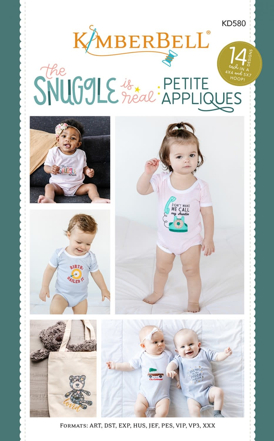 KIMBERBELL DESIGNS The Snuggle is Real:  Petite Appliques
