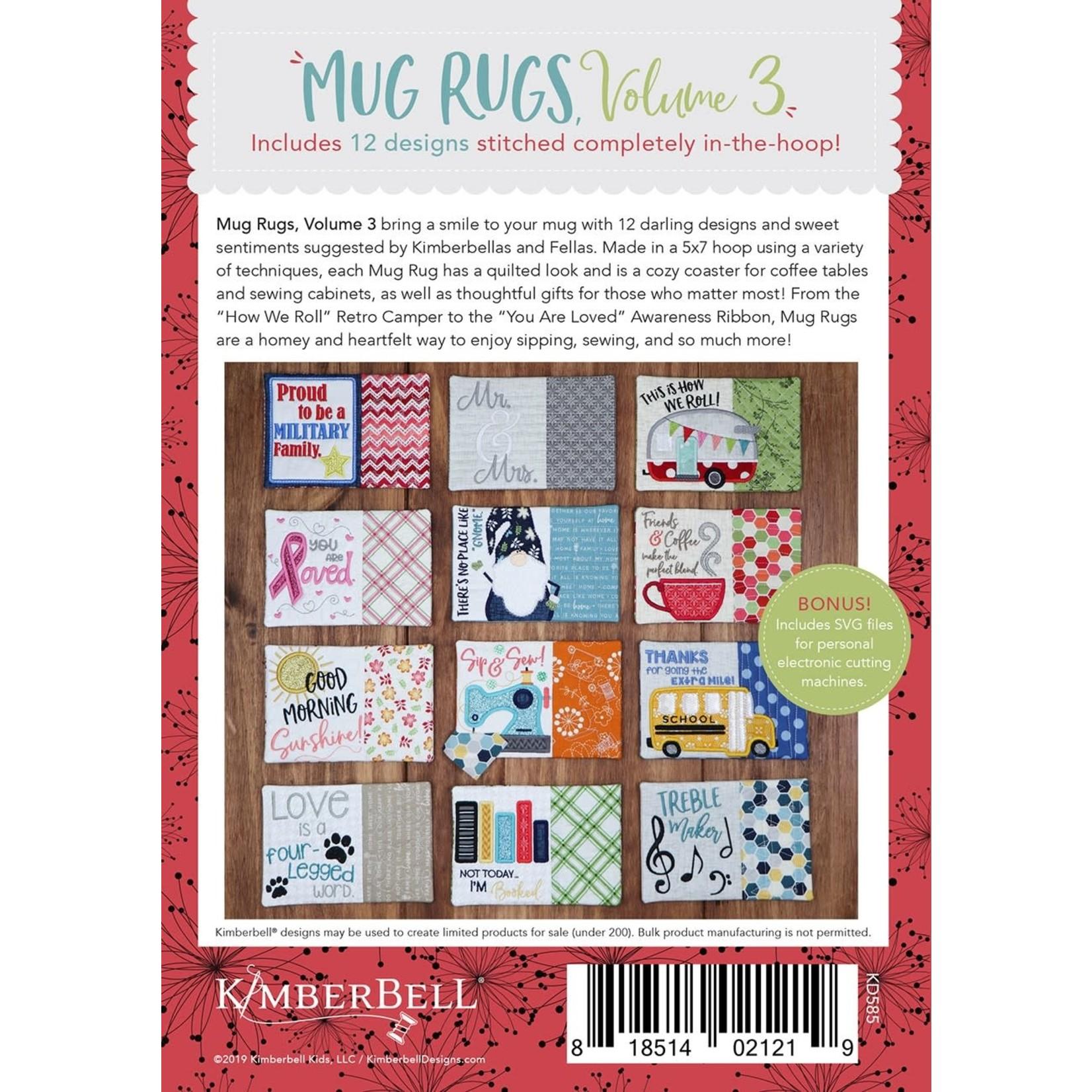 Kimberbell Designs Mug Rugs Volume 3