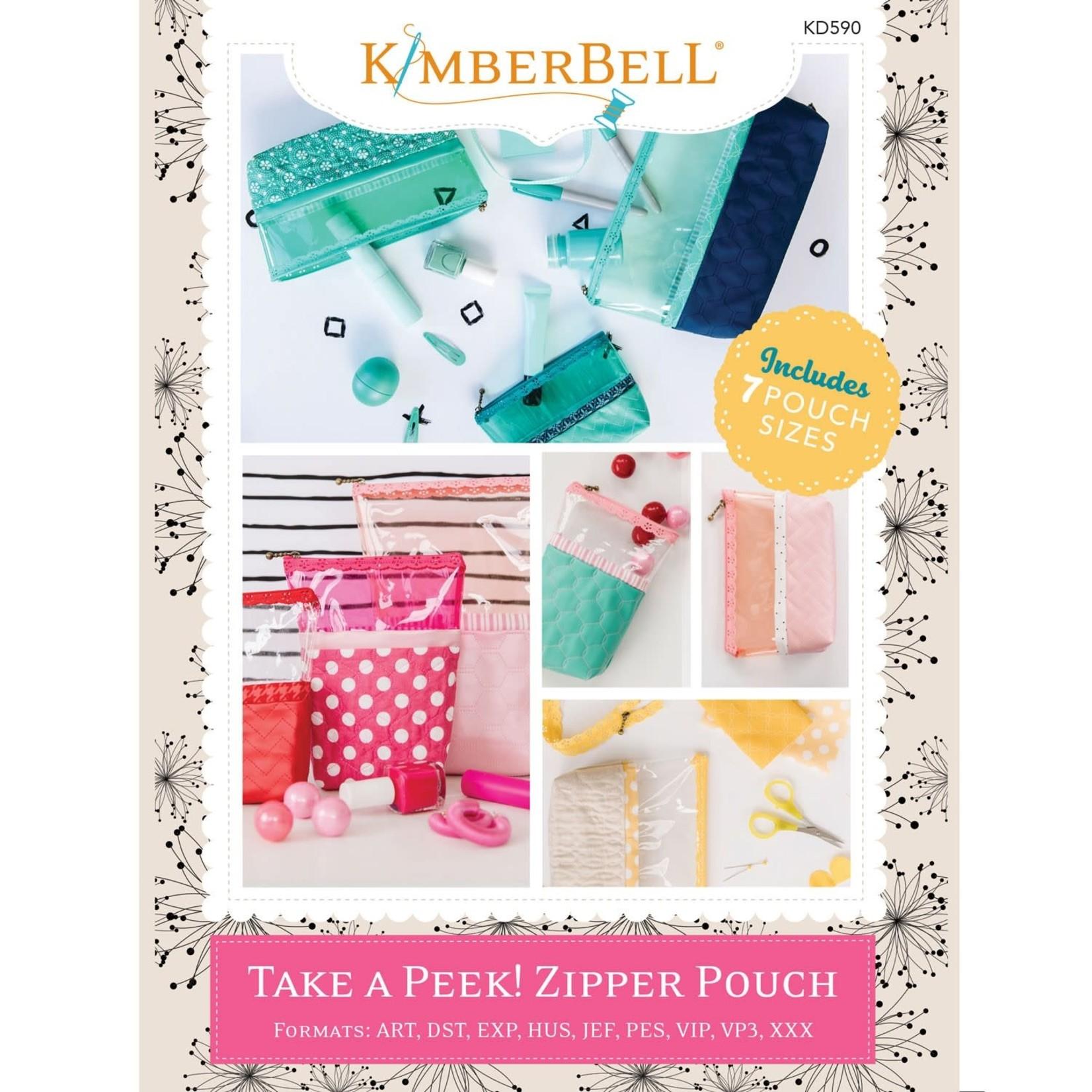 Kimberbell Designs Take A Peek! Zipper Pouches