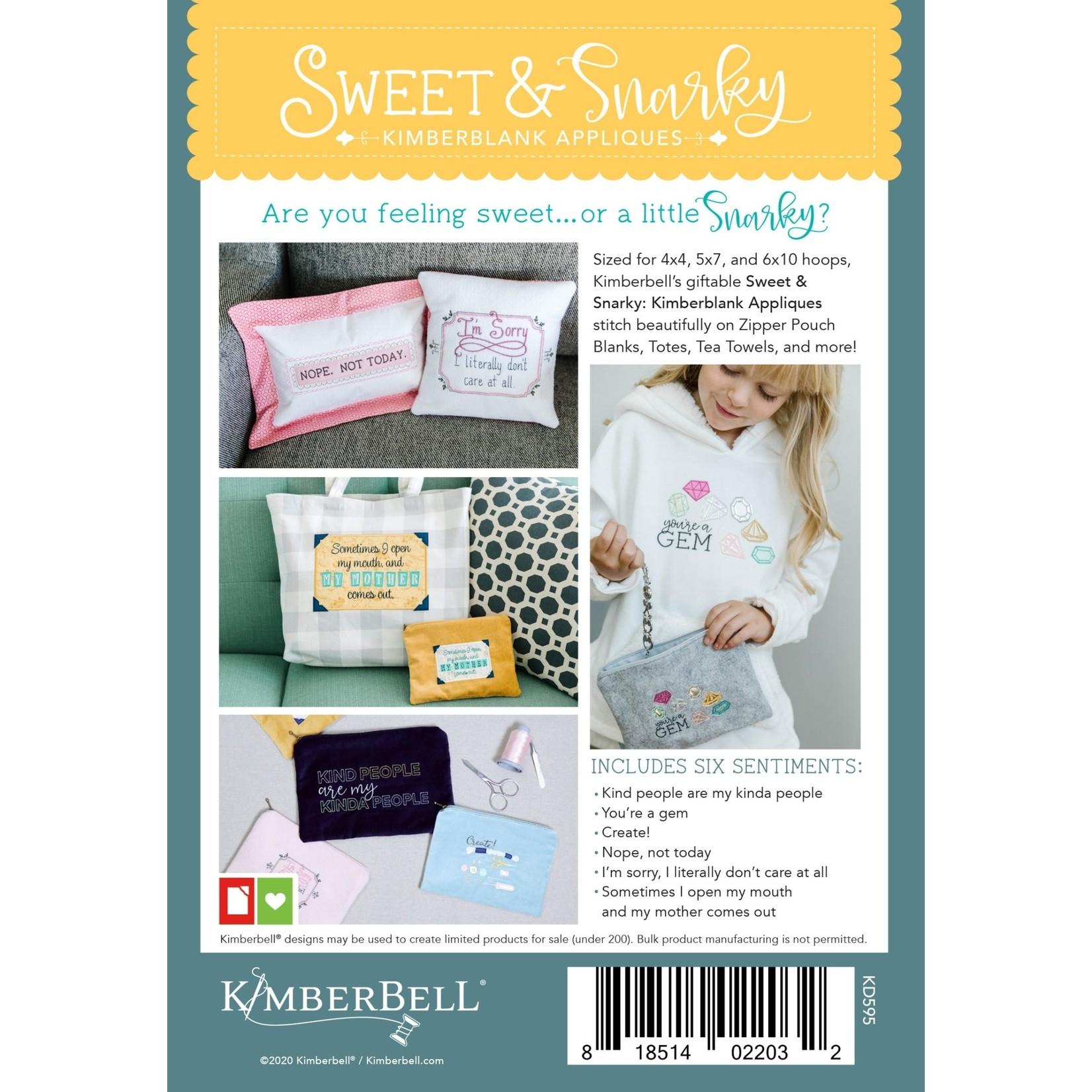 Kimberbell Designs Sweet & Snarky Sentiments