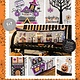 KIMBERBELL DESIGNS Twilight Boo-levard Bench Pillow Machine Embroidery Version