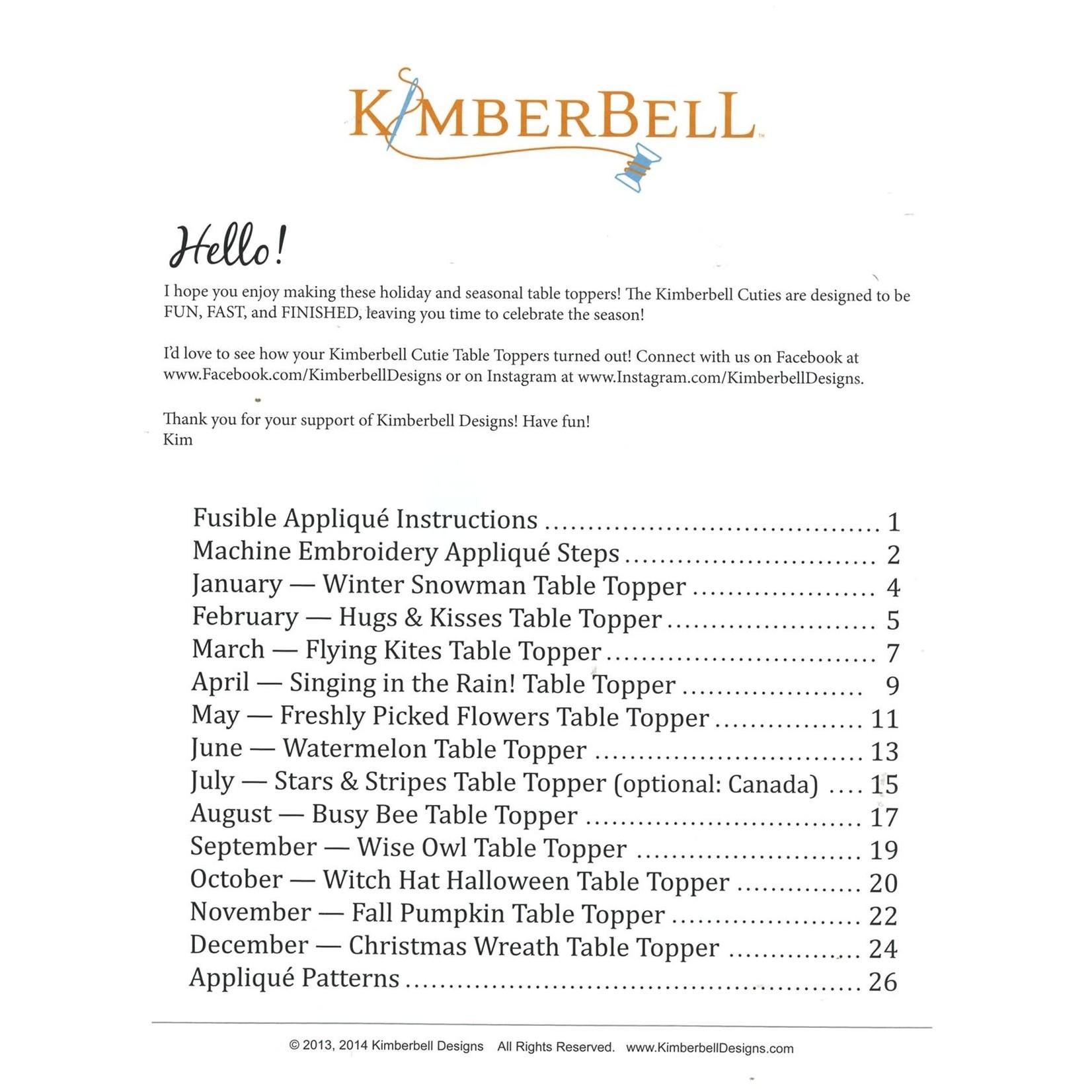 Kimberbell Designs Kimberbell Cuties: 12 Seasonal Table Toppers Pattern Book