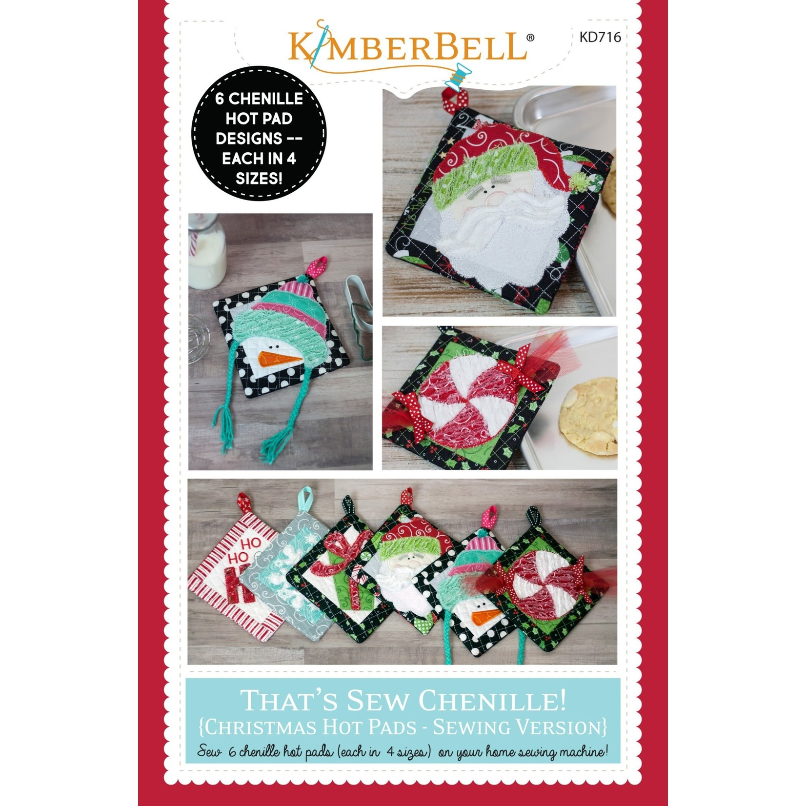 Kimberbell Designs That's Sew Chenille: Christmas Hot Pads Pattern Booklet