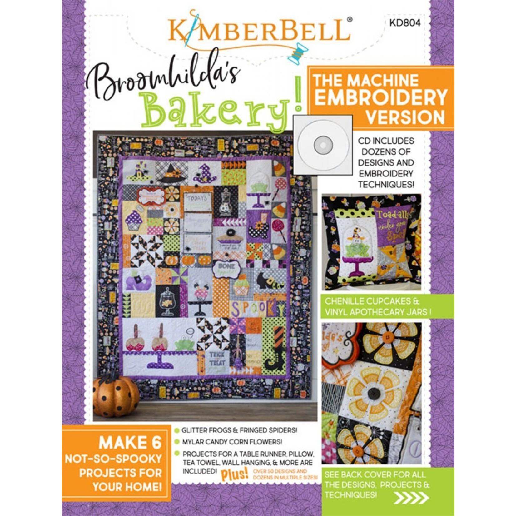 Kimberbell Designs Broomhilda's Bakery Book & Machine Embroidery CD