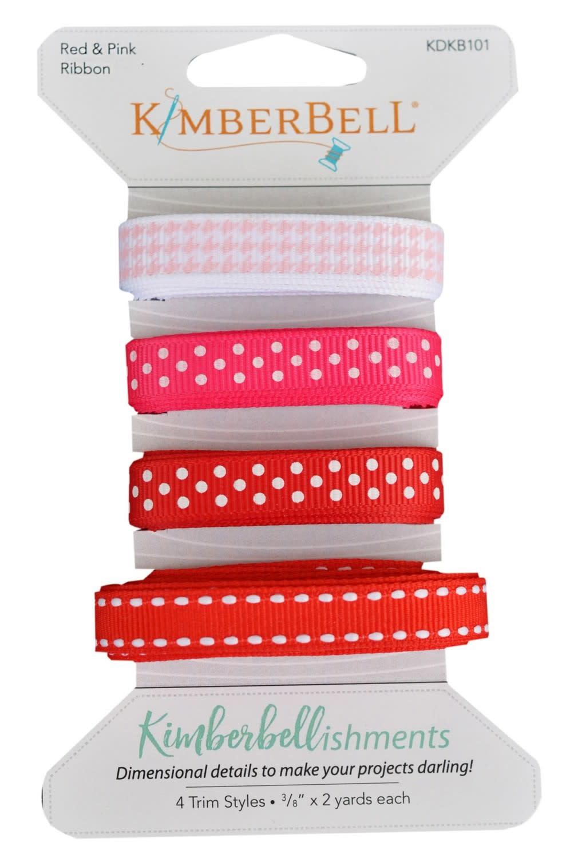 KIMBERBELL DESIGNS Kimberbellishments Red & Pink Ribbon Set