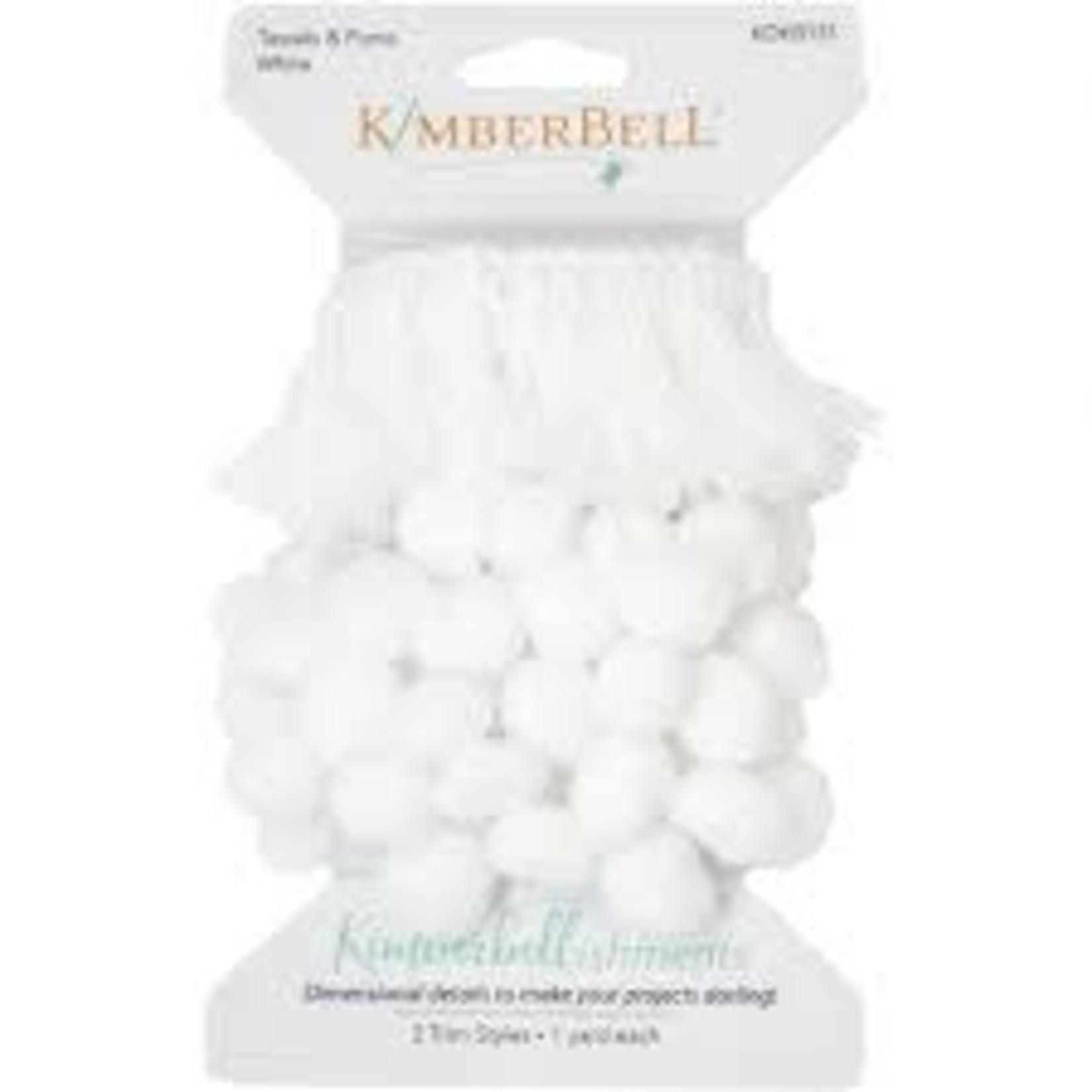 Kimberbell Designs Tassels & Poms Trim, White