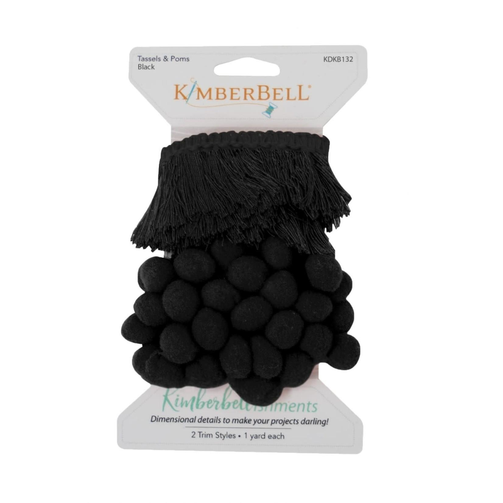 Kimberbell Designs Tassels & Poms Trim, Black