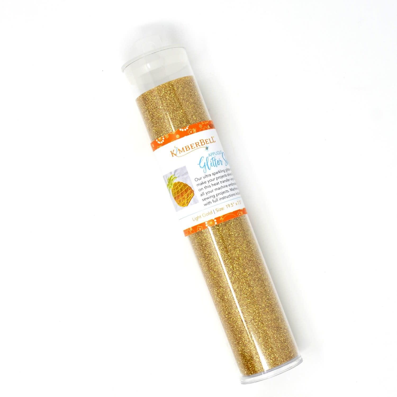 KIMBERBELL DESIGNS Applique Glitter Sheet Light Gold