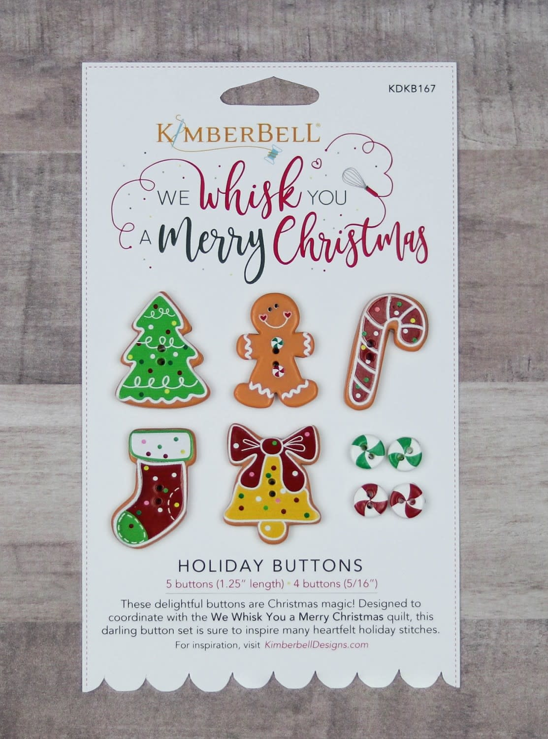 KIMBERBELL DESIGNS We Whisk You Holiday Buttons