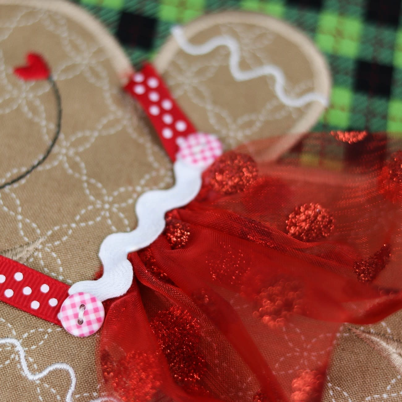 KIMBERBELL DESIGNS Glitter Dot Organza Set - Red, Purple, Silver