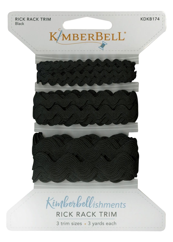 KIMBERBELL DESIGNS Ric Rac Trim, Black