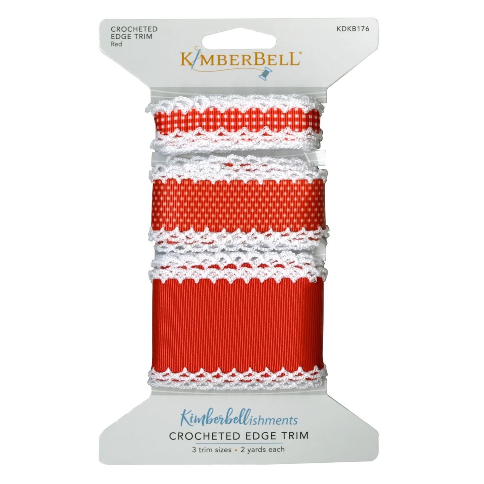 Kimberbell Designs Crocheted Edge Trim:  Red