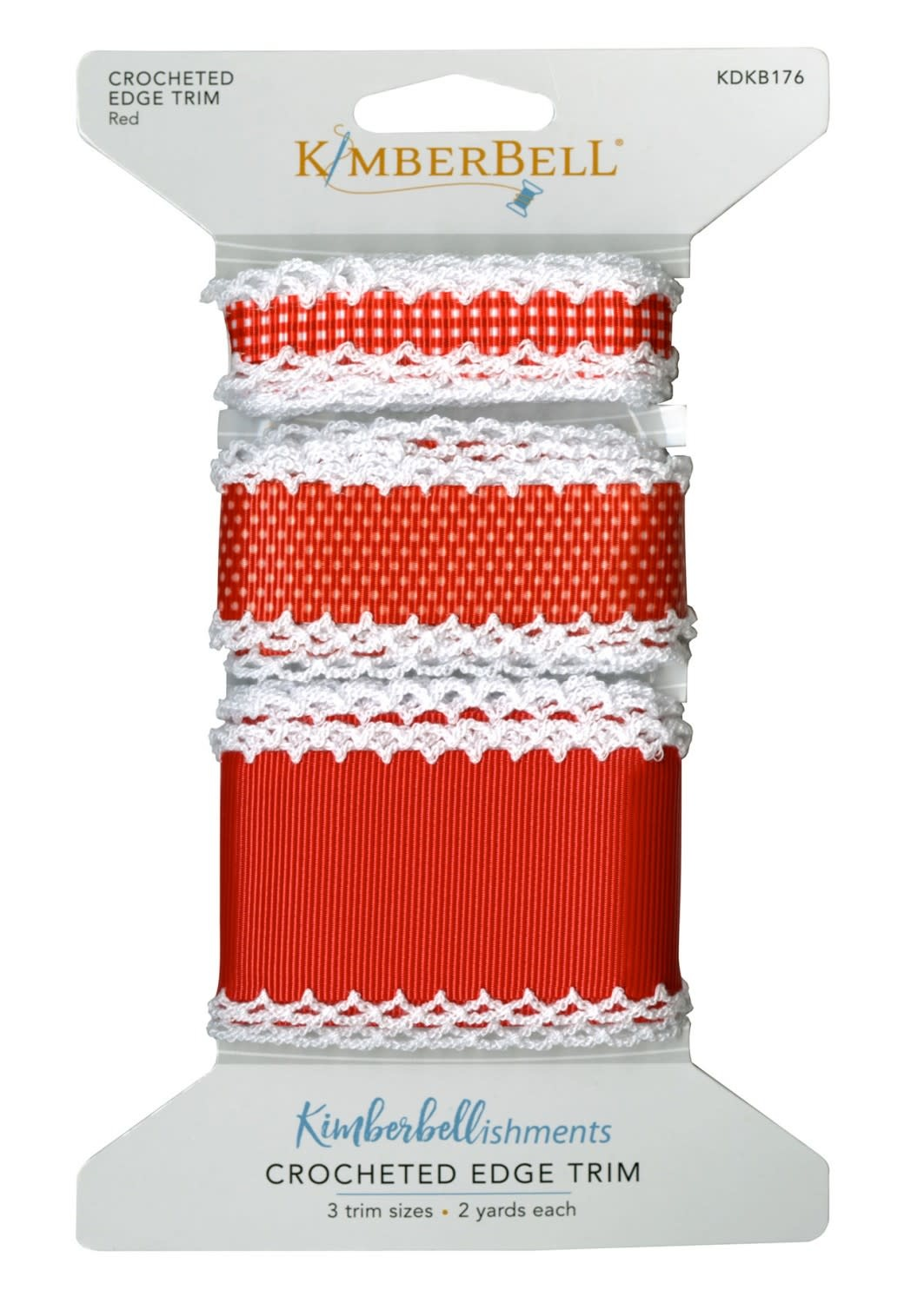KIMBERBELL DESIGNS Crocheted Edge Trim:  Red
