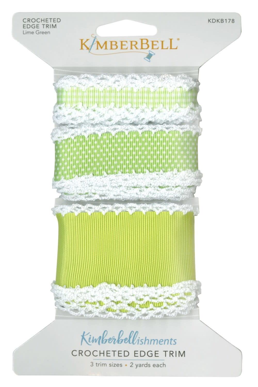 KIMBERBELL DESIGNS Crocheted Edge Trim:  Lime Green