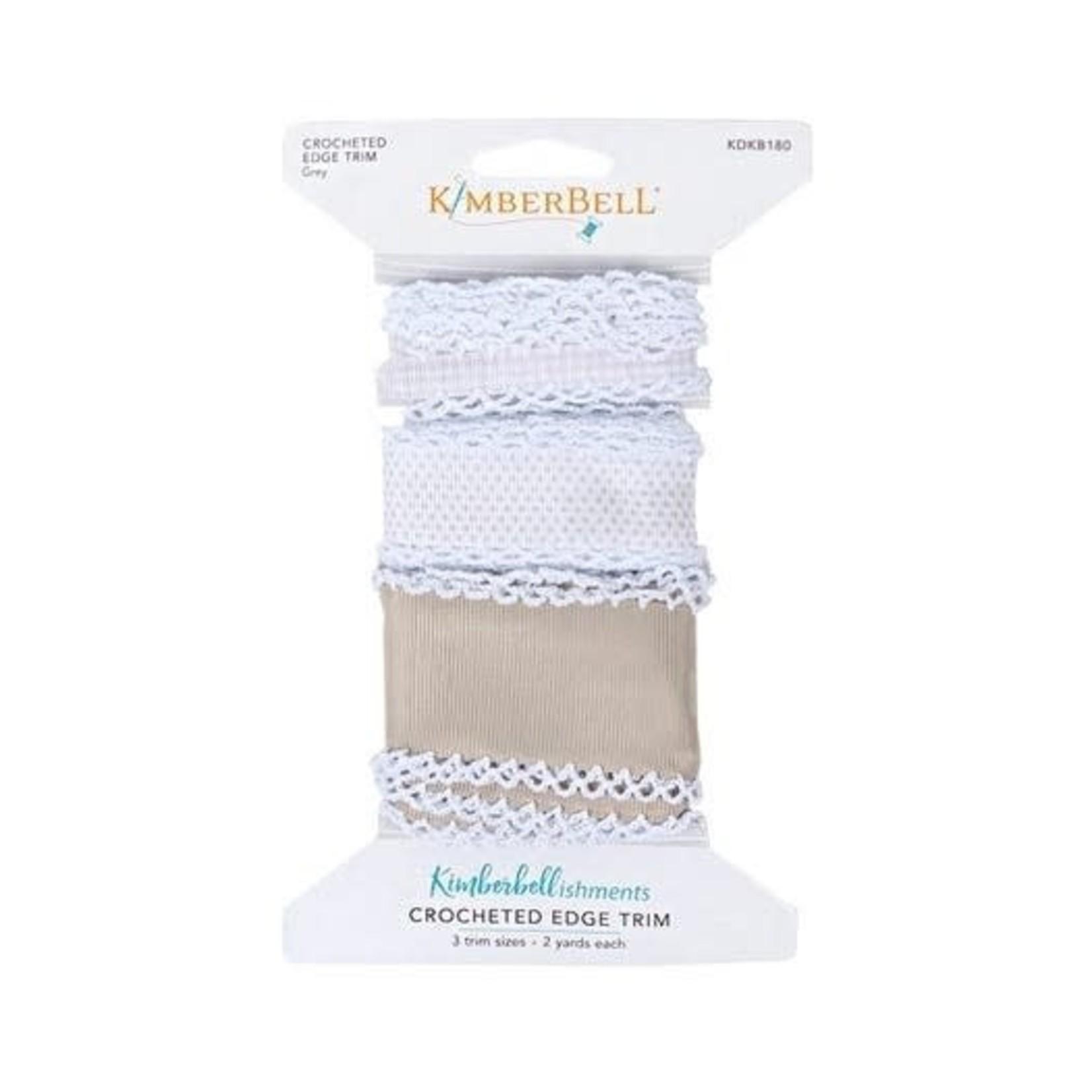 Kimberbell Designs Crocheted Edge Trim:  Grey
