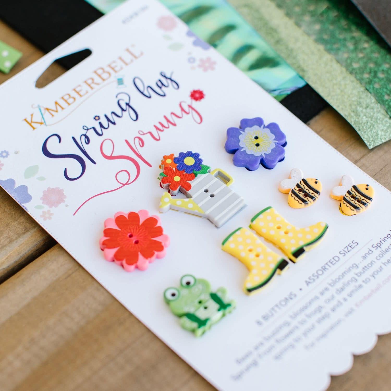 KIMBERBELL DESIGNS Spring Has Sprung Buttons