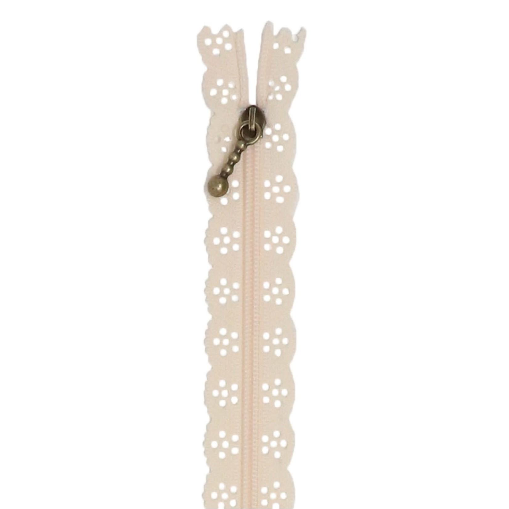 """Kimberbell Designs Lace Zipper 14"""" - Buttermilk"""