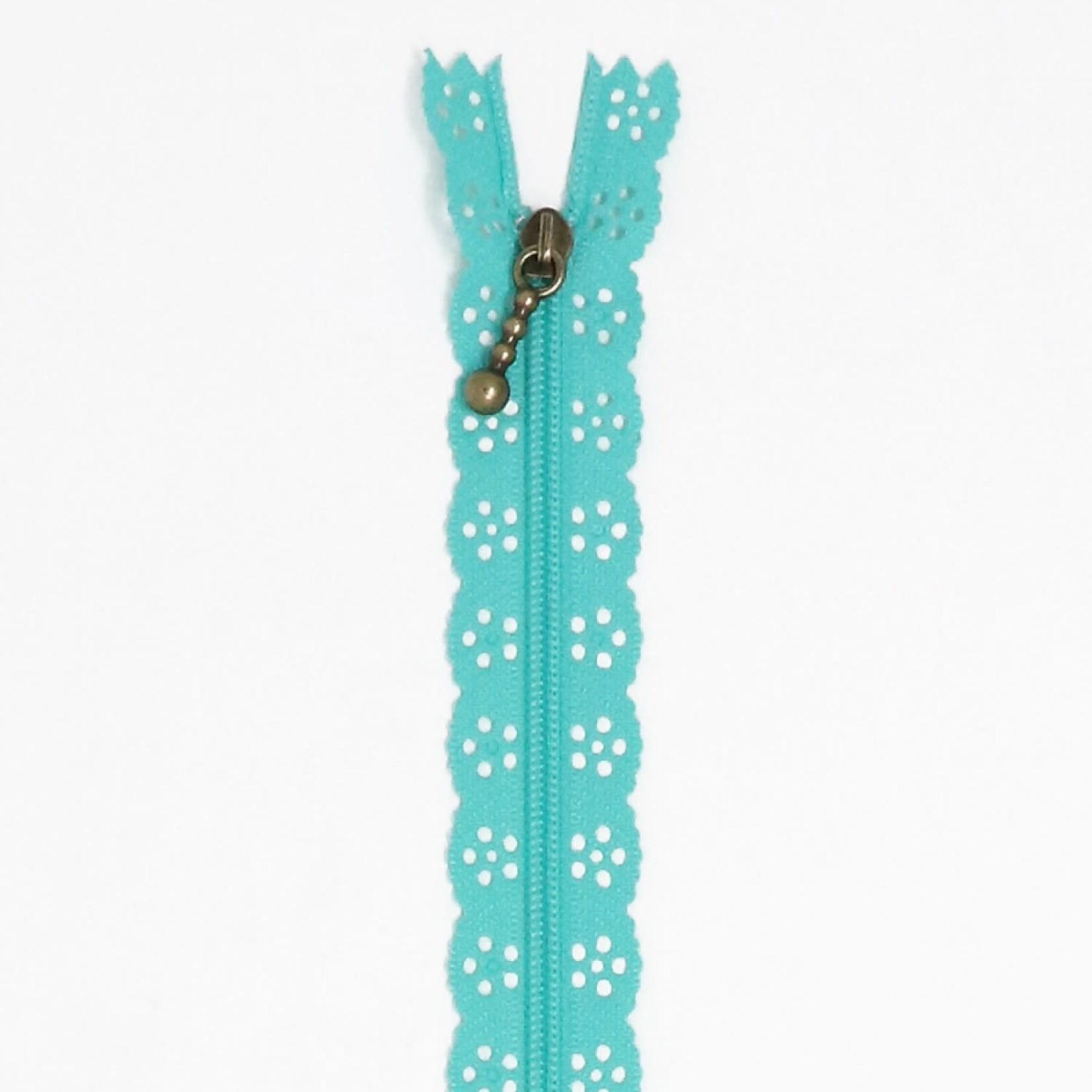 "KIMBERBELL DESIGNS Lace Zipper 14"" - Robin's Egg Blue"