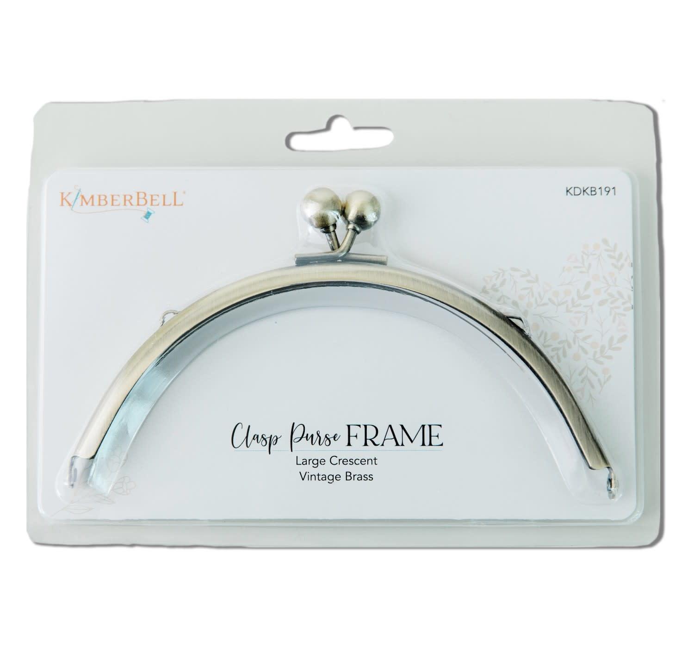 KIMBERBELL DESIGNS Clasp Purse Frame, Large Crescent-Vintage Brass