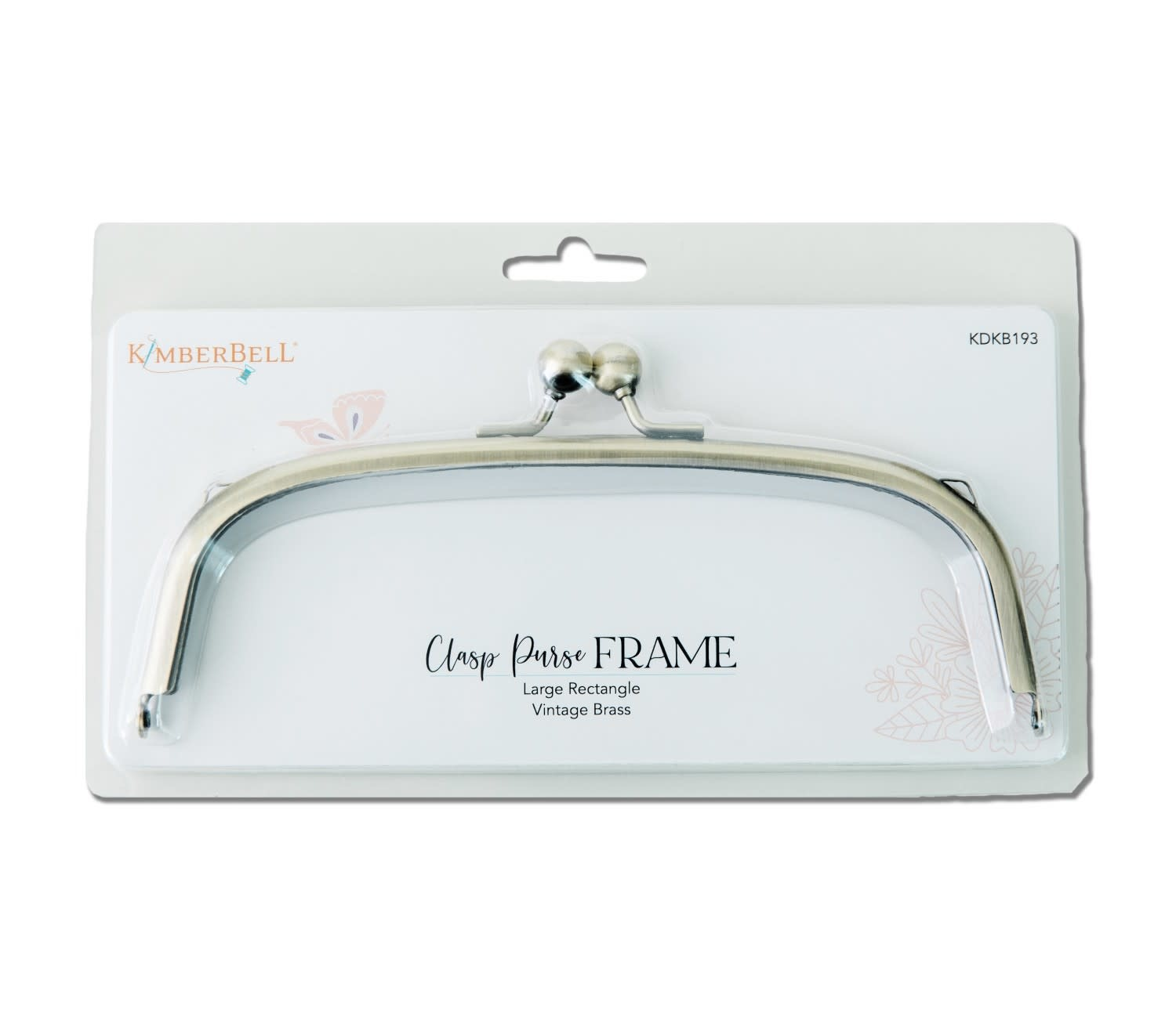 KIMBERBELL DESIGNS Clasp Purse Frame, Large Rectangle-Vintage Brass