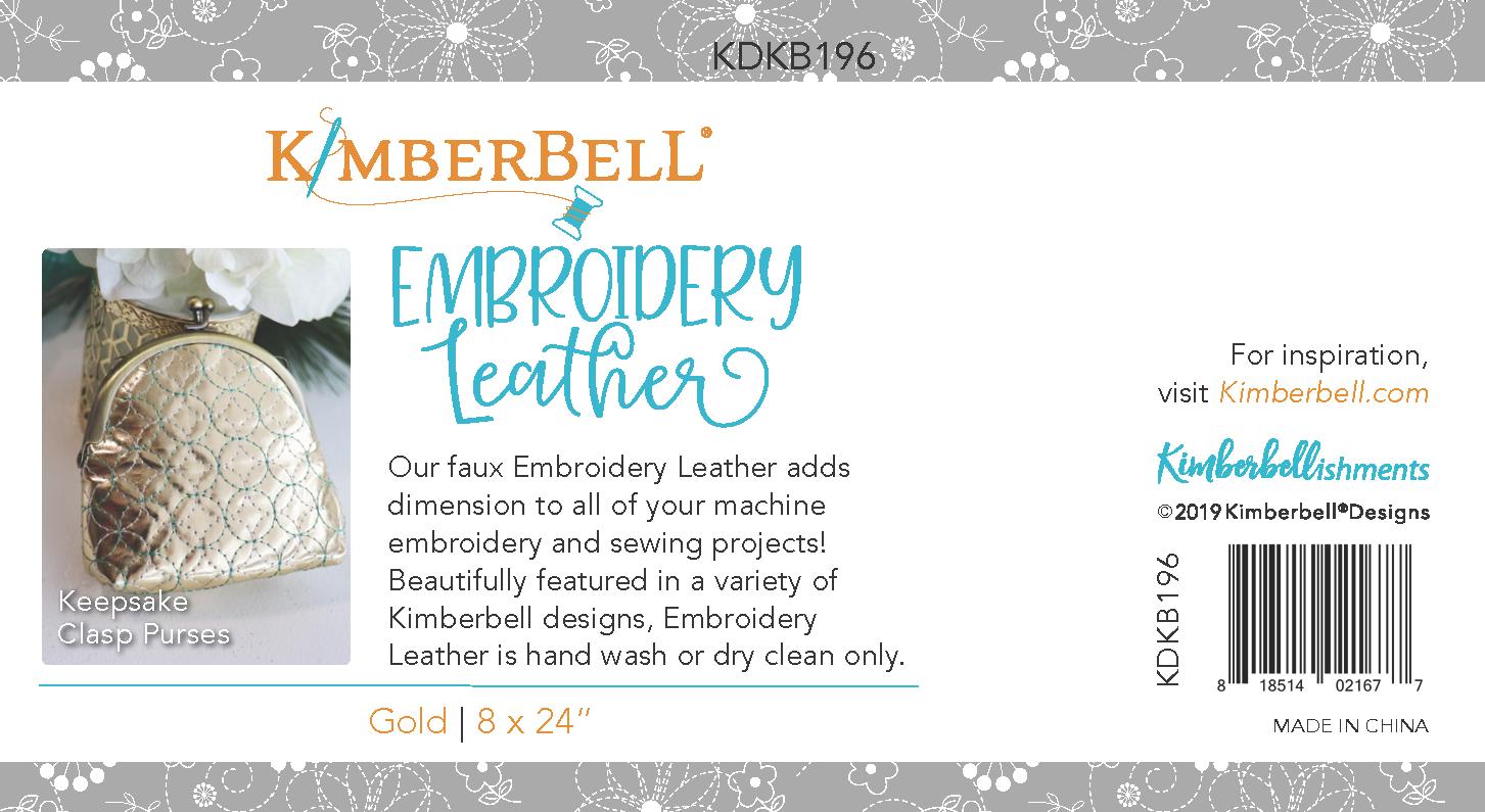 KIMBERBELL DESIGNS Embroidery Leather:  Cherry Red