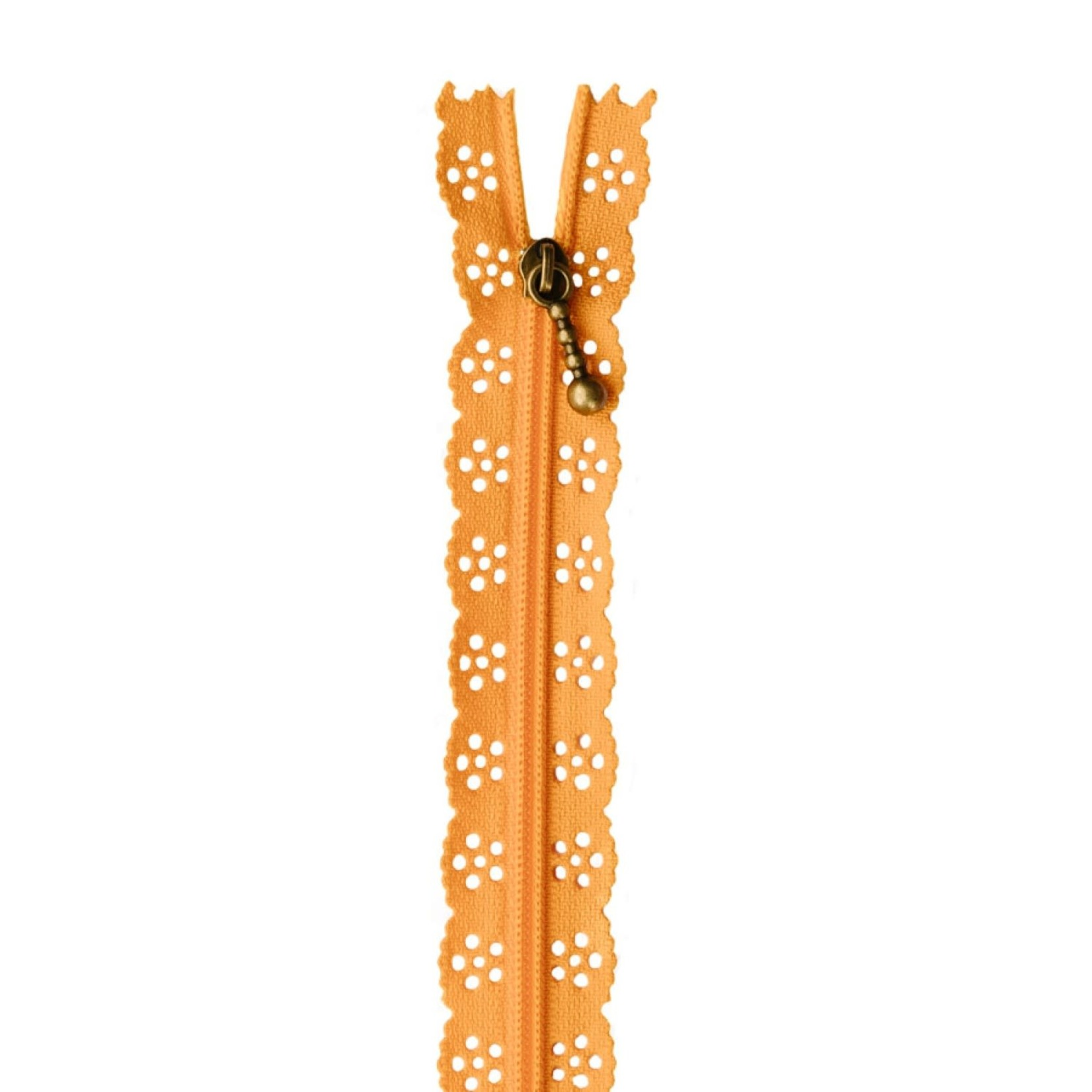 "Kimberbell Designs Lace Zipper 14""- Apricot"