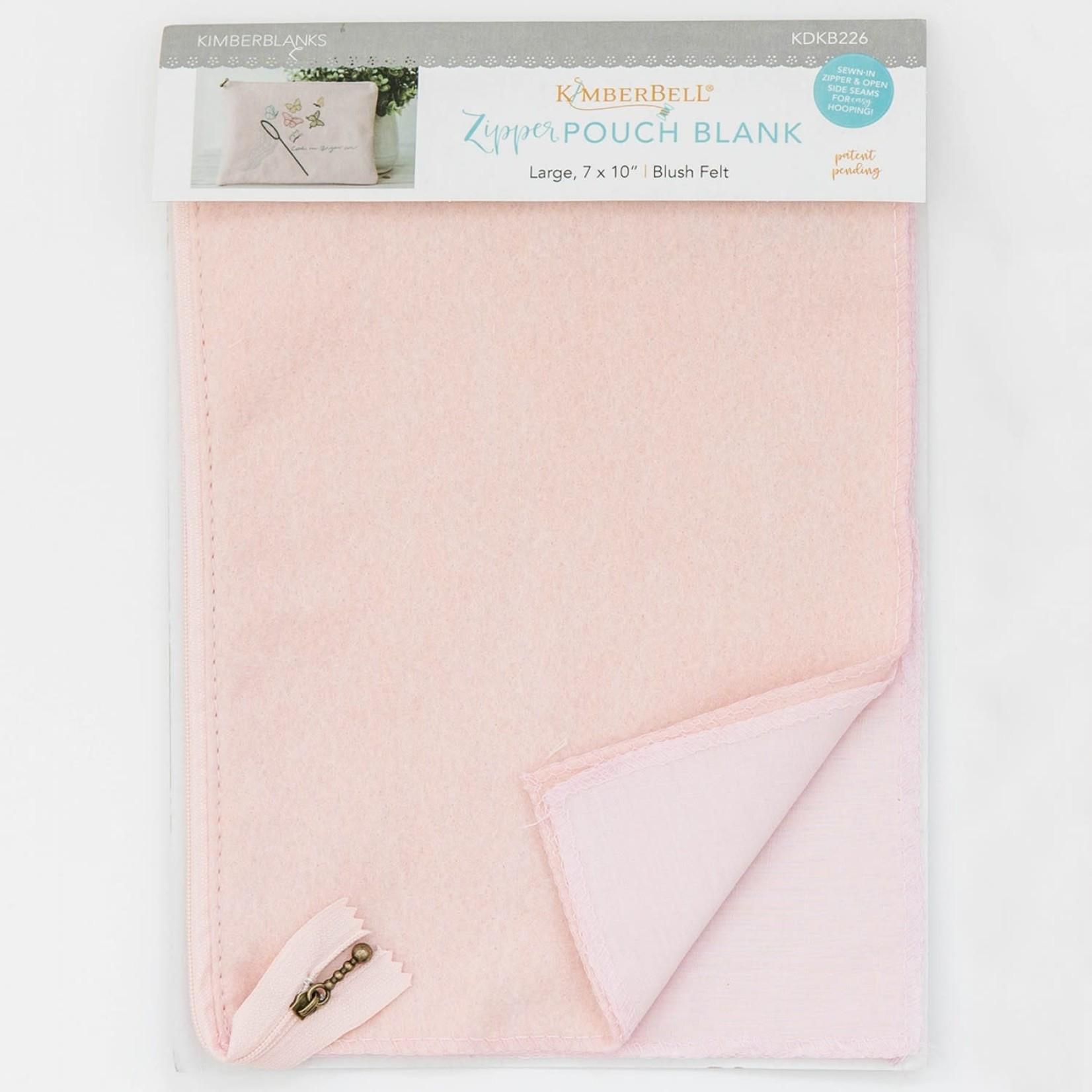 Kimberbell Designs Blush Felt Zipper Pouch Blank, Large