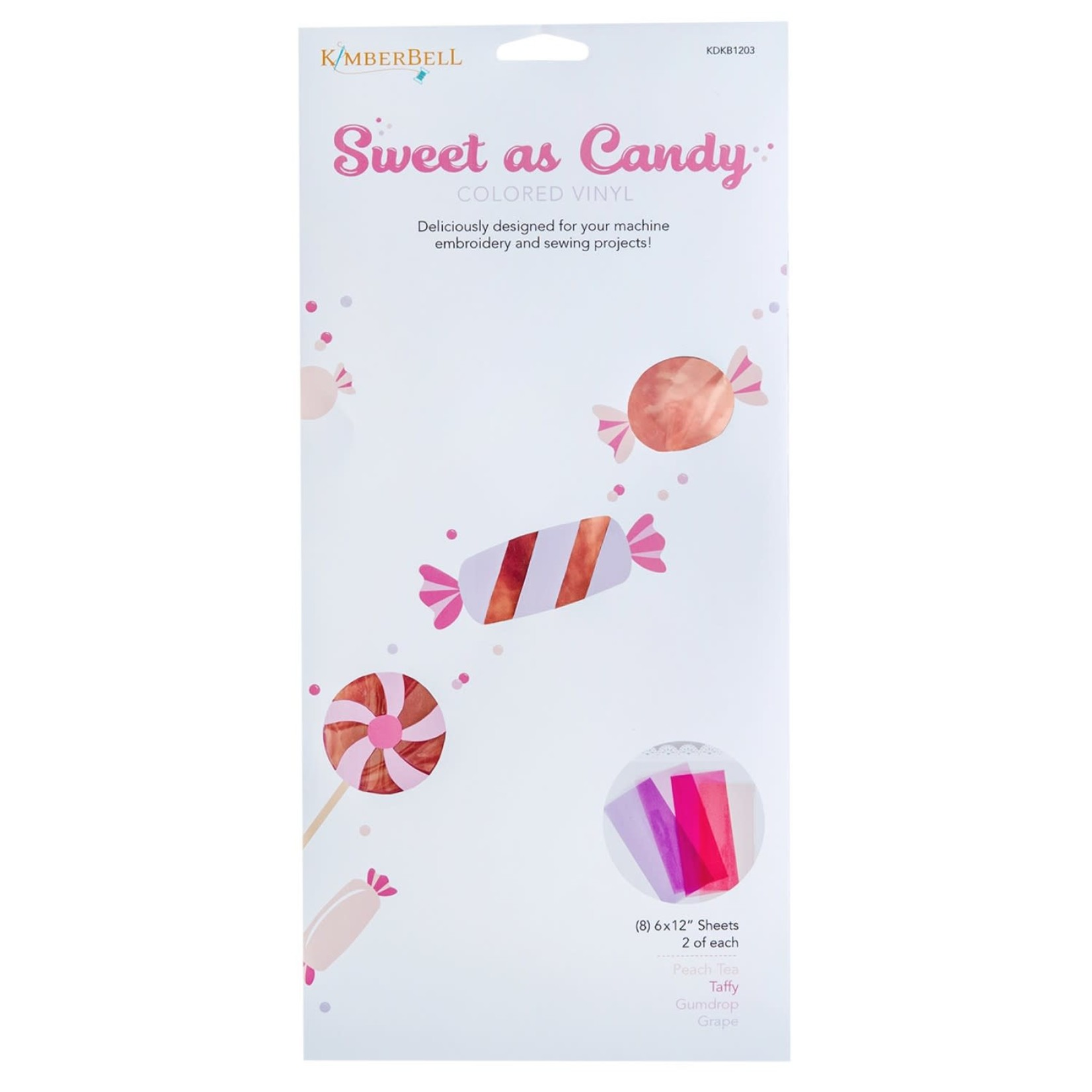 KIMBERBELL DESIGNS Sweet as Candy Colored Vinyls:  Pinks