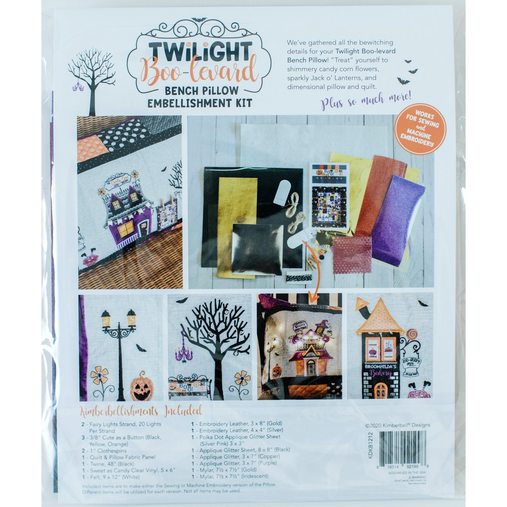 KIMBERBELL DESIGNS Twilight Boo-levard Embellishment Kit