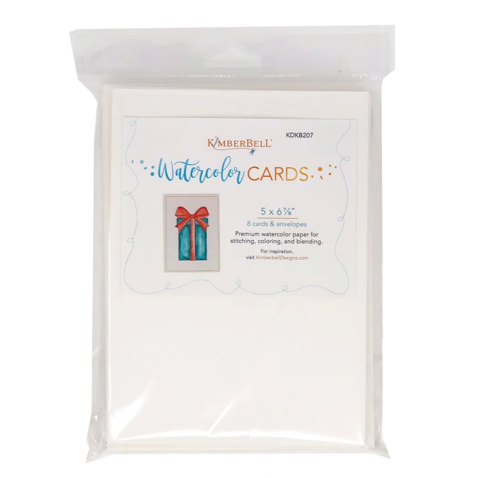 KIMBERBELL DESIGNS Premium Watercolor Cards/Envelopes (set of 8), 5x7