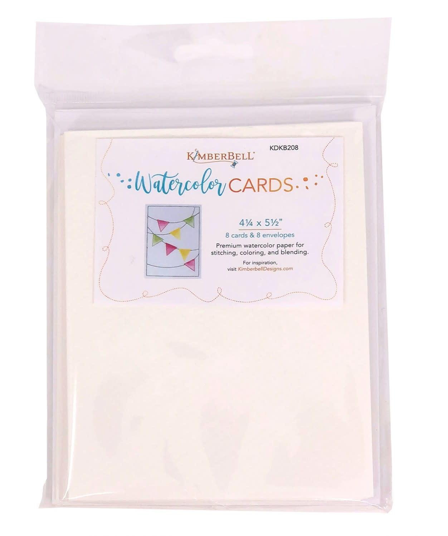 KIMBERBELL DESIGNS Premium Watercolor Cards Envelopes (set of 8), 4x5
